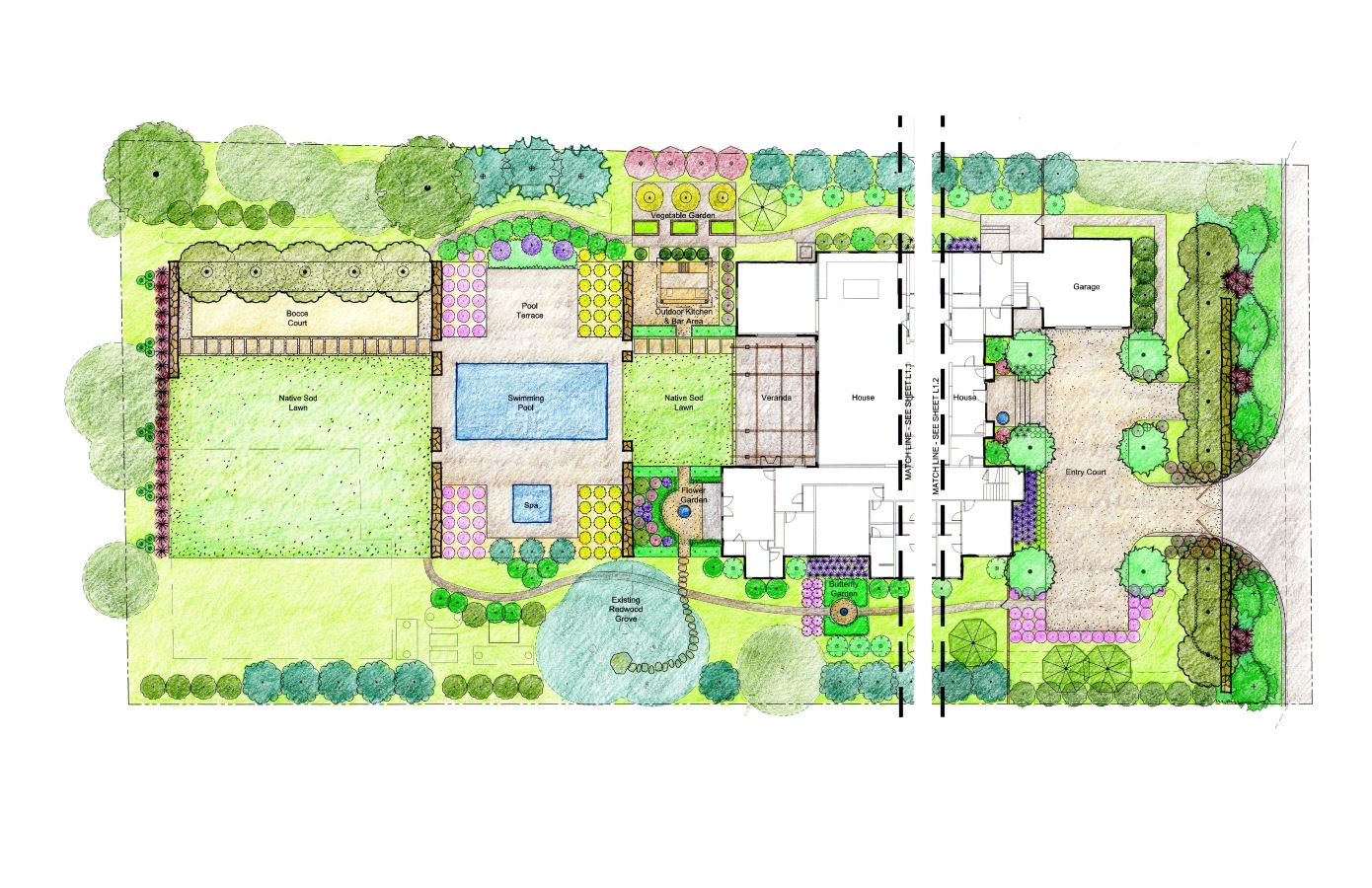 1 acre landscape design beatiful landscape for Landscape house plan